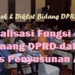 Bimtek Peningkatan kapasitas peran fungsi DPRD